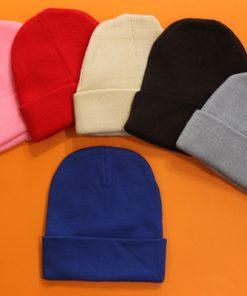 کلاه بافت ساده