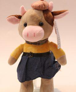 عروسک گاو لباس جین